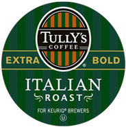 18 Count Tullys Italian Roast Extra Bold Coffee K-