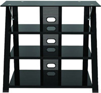Black Cruise Highboy TV Stand - ZL583-36SU