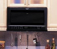 Black Over The Counter Microwave Oven - R-1210