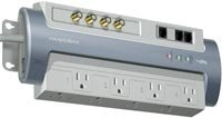 Gray Home Theater Power Management Surge Protector