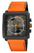 Eco-Drive MFD Black &amp; Orange Mens Watch - AT2217-0