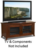 Walnut 50   Wide Credenza TV Stand - PAL50