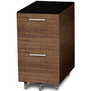 Sequel Series Tall Walnut Mobile File Pedestal - S
