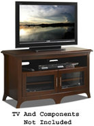48   Wide Walnut Curved Front Hi-Boy Credenza TV S