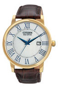 Eco-Drive Rose Gold Mens Strap Watch - BM6752-02A