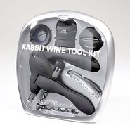 Rabbit Corkscrew 6 Piece Wine Kit (Black)