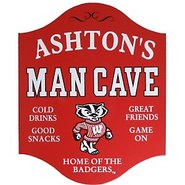 Wisconsin Badgers Man Cave Sign