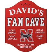 Nebraska Cornhuskers Fan Cave Sign