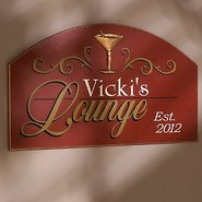 Personalized Lounge Sign (Red)