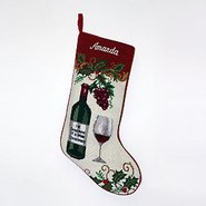 Personalized Wine Christmas Stocking