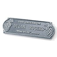 Personalized Wine Cellar Plaque (Pewter Silver)