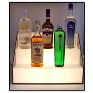 18-inch 3 Tier Lighted Stair Liquor Bottle Display