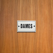 Dames French Women?s Restroom Enameled Sign