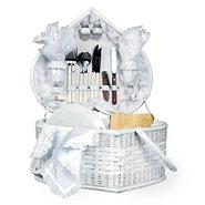 Picnic Time Wedding Heart Picnic Basket
