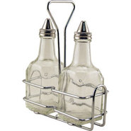 Oil and Vinegar Dispenser Bottle Set with Stand