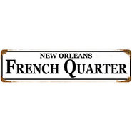 Vintage New Orleans French Quarter Metal Bar Sign