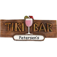 Tiki Bar Personalized Sign