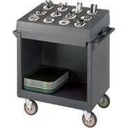 Tray and Dish Cart with Silverware Compartments