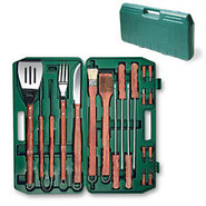 Picnic Time BBQ Tool Set with Case ? 18 Pieces