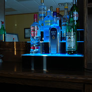 Three Step Lighted Liquor Bottle Display