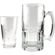 German Style XL Glass Beer Mug ? 34 oz