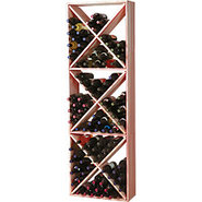 Traditional Redwood Solid Diamond Wine Rack - Hold