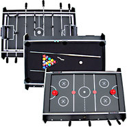 7 In 1 Rotating Game Table - Foosball, Air Hockey,