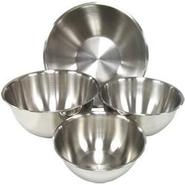 Shallow Heavy Duty Stainless Steel Mixing Bowls -