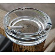 Heavy Duty Glass Cigar Ashtray - 5 3/4  Diameter