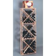 Country Pine Open Diamond Wine Cube Rack - Holds 1