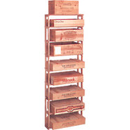 Traditional Redwood Wooden Wine Case Rack - Holds