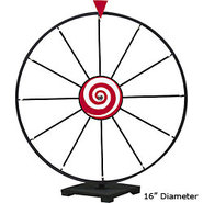 Dry Erase Tabletop Prize Wheel ? White Face