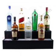 2 Tier Lighted Liquor Bottle Bar Shelves