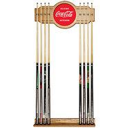 Coca Cola Billiards Wooden Pool Cue Rack