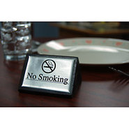 No Smoking Tabletop Wood Block Sign