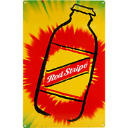 Red Stripe Tie-Dye Metal Bar Sign