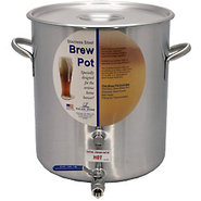 Stainless Steel Beer Homebrew Pot with Ball Valve