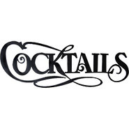 Cocktails 3D Lettering Metal Bar Sign