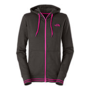 WOMENS LOGO STRETCH FULL ZIP HOODIE C8A XS