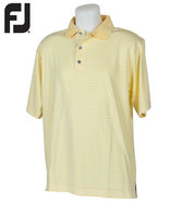 Footjoy Men's Prodry Lisle Stripe Polo Golf Shirt