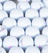 Women&#39;s Assorted Logo Over-Run White Golf Balls 1 