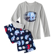 Boys Long-Sleeve Pajama Set - XS(4-5)