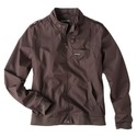 Men&#39;s Iconic Racer Jacket - Dark Brown XL