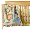 Monkey Jungle 4 Piece Bedding Set For Baby