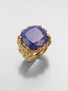 Lapis and Ruby Snake Ring