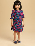 Toddler's & Little Girl's Fish Print Knit Dress