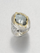 Prasiolite, 18K Gold & Sterling Silver Ring
