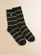 Boy&#39;s Striped Slack Socks