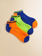 Toddler's & Little Boy's Tech Ankle Socks/3-Pack