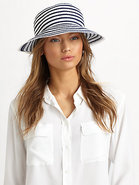 Striped Grosgrain Ribbon Bucket Hat